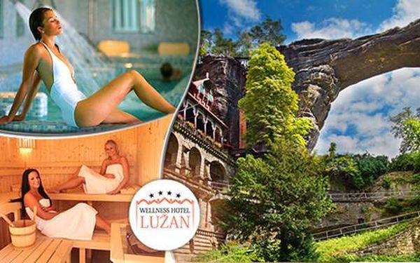 Wellness pobyt v Hotelu Lužan**** s polopenzí nedaleko Českého Švýcarska