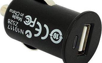 Miniaturní USB autonabíječka, 1000 mAh - skladovka - poštovné zdarma