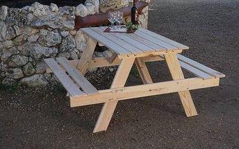Zahradní nábytek Rojaplast Piknik dřevo