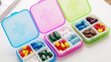 Pouzdro na léky - 4 přihrádky