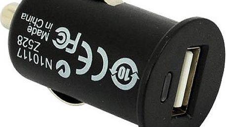 Miniaturní USB autonabíječka, 1000 mAh - dodání do 2 dnů