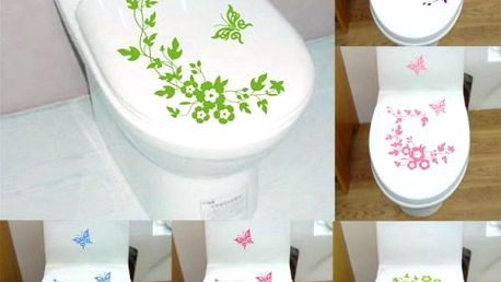 Samolepka na záchodové prkénko s motýlky - poštovné zdarma