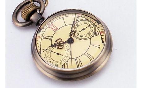 Retro kapesní hodinky ve zlaté barvě - dodání do 2 dnů