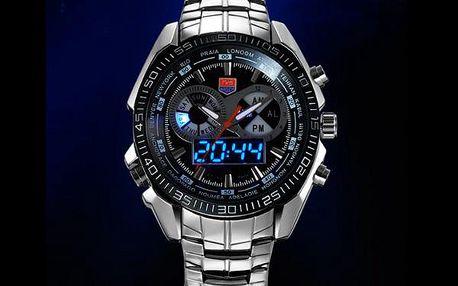Masivní TVG hodinky z nerez oceli pánské
