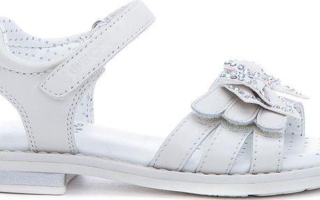Geox Dívčí bílé sandály JR Sandal Giglio J52E2C