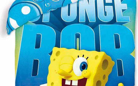 Halantex Dětské oboustranné povlečení SpongeBob, 140x200 cm - barevné, Vícebarevná