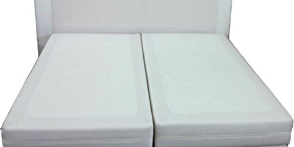 Americká postel 180cm bílá