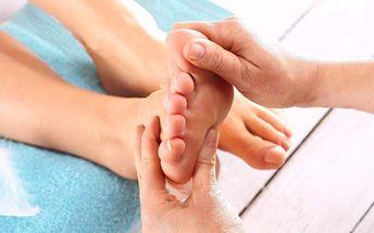45minutová reflexní terapie plosek nohou