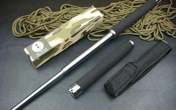 Teleskopický obušek stříbrný, 65 cm