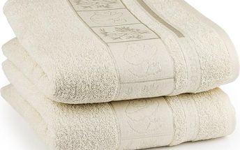 4Home ručník Bamboo Exclusive krémová, sada 2 ks