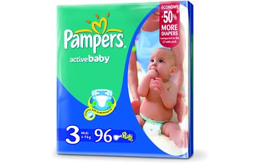 Pampers Active baby 3 midi 4 - 9 kg 90 kusů