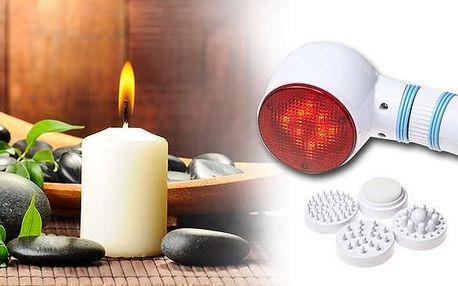 Masážní infra lampa s vibračními hlavicemi