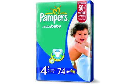 Pampers Active baby 4+ maxi plus 9 - 16 kg 70 kusů