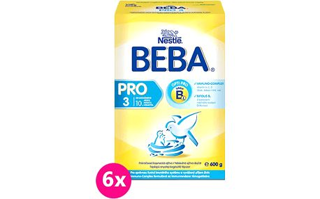 6x Nestlé BEBA 3 PRO (600g)