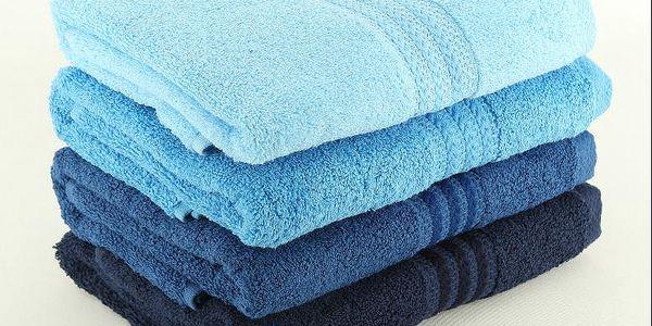 Sada 4 ručníků Rainbow Blue, 50x90 cm
