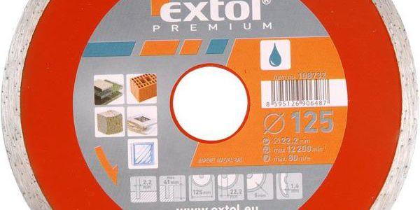 Extol Premium (108734) kotouč diamantový řezný celoobvodový, 180x22,2mm, mokré řezání