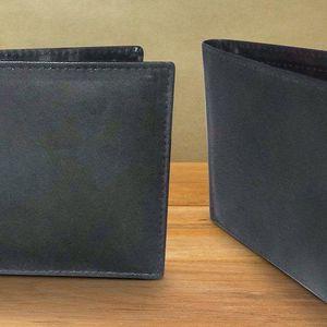 Pánská černá peněženka Slim z pravé kůže