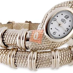 Hadí hodinky - stříbrná barva