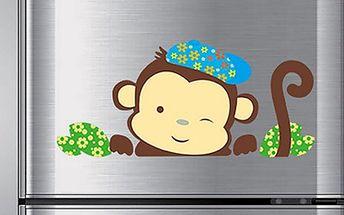 Nalepte.cz Roztomilý opičák 33 x 22 cm