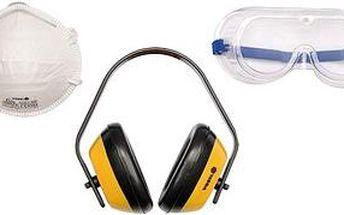 VOREl Sada ochranných prostředků,chániče sluchu,brýle,maska proti prachu