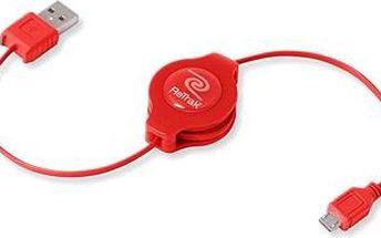 RETRAK computer USB typ A-microUSB červený, 1m
