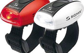Světlo na kolo Sigma sada - zadní a přední světlo Sigma MICRO, přední(bílé) a zadní (červené) C3 bílá/červená + Doprava zdarma