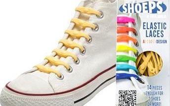 Shoeps - Silikonové tkaničky yellow sunny