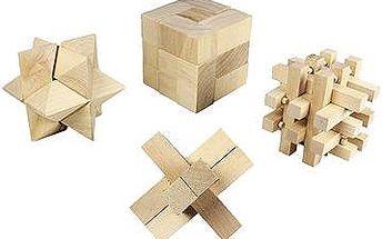 Dřevěná logická skládačka 4 sady