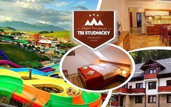 Relaxační pobyt pro dva vhodný i pro rodiny s dětmi v apartmánech Tři Studničky v Demänovské dolině. Navštivte jednu z nejoblíbenějších oblastí Slovenska a vydejte se na toulky po památkách, přírodních zajímavostech, užijte si spoustu zábavy.