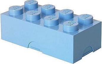 LEGO Box na svačinu 100 x 200 x 75 mm - světle modrý
