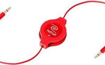 RETRAK audio Jack 3.5mm - Jack 3.5mm červený