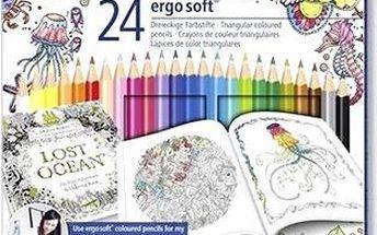 """Barevné pastelky """"Ergo Soft"""" sada 24 barev"""