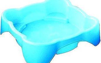 Pískoviště - bazének Čtverec bez krytu modré