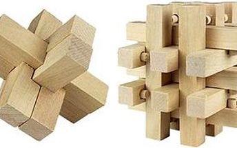 Dřevěná logická skládačka 2 sady