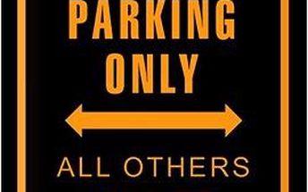 Plechová cedule Biker parking only