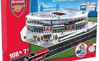 3D Puzzle Nanostad UK - Emirates fotbalový stadion Arsenal