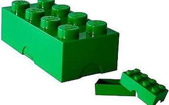 LEGO Box na svačinu 100 x 200 x 75 mm - tmavě zelený