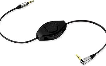 RETRAK audio Jack 3.5mm - Jack 3.5mm 90° černý