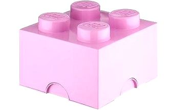LEGO Úložný box 4 250 x 250 x 180 mm - světle růžový