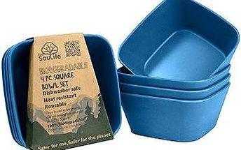 Biodegradable Square bowl navy