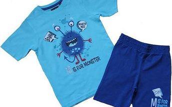 Blue Seven Chlapecký set trička a šortek Monster - modrý