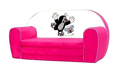Mini-pohovka růžová - Krteček