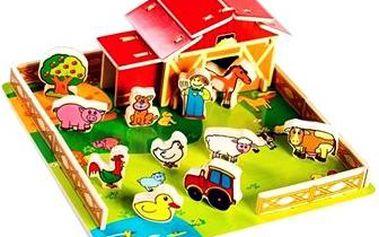 Domeček - Dřevěná farma se zvířátky