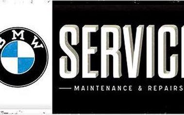 Plechová cedule BMW service