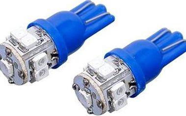 Compass Žárovka 9 SUPER LED 12V T10 modrá 2ks