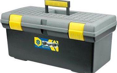 """VOREL Box na nářadí plastový 20"""" 2 zámky šedé víko 50cm"""