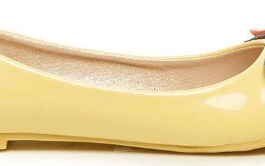 Žluté baleríny s mašličkou