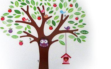 Nalepte.cz Strom se zvířátky 140 x 160 cm