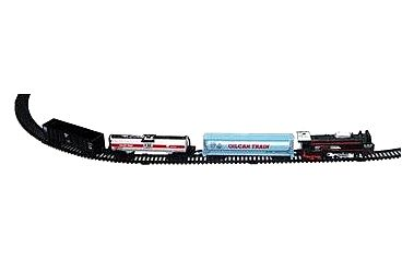 Vlak s kolejemi s doplňky se světlem se zvukem