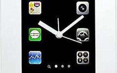 Nástěnné hodiny Smartphone bílé